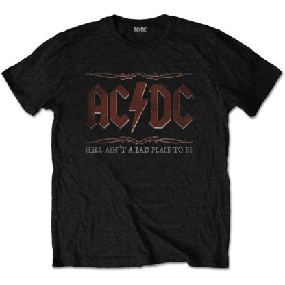 ac/dc hell ain't a bad place svart t-skjorte til herre ACDCTS64MB