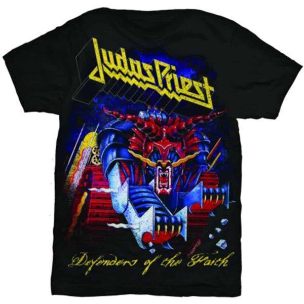 judas priest defenders of the faith svart t-skjorte til herre JPTEE03MB