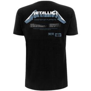 metallica master of puppets tracks svart t-skjorte til herre METTS23MB