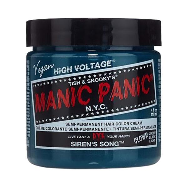 manic panic classic high voltage blågrønn uv hårfarge 118ml siren's song pot 6008