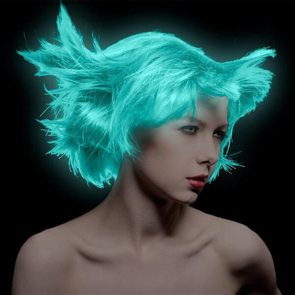 manic panic classic high voltage blågrønn uv hårfarge 118ml siren's song model uv 6008