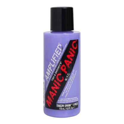 manic panic amplified sølv hårfarge 118ml virgin snow toner bottle 70584