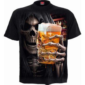 live loud svart t-skjorte til herre T177M101