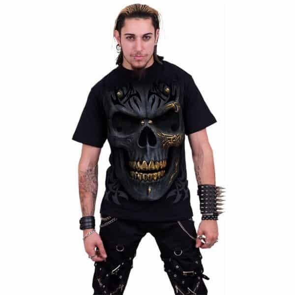black gold svart t-skjorte til herre M031M101