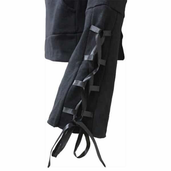 waisted corset hettegenser med svart sløyfebånd T085F260