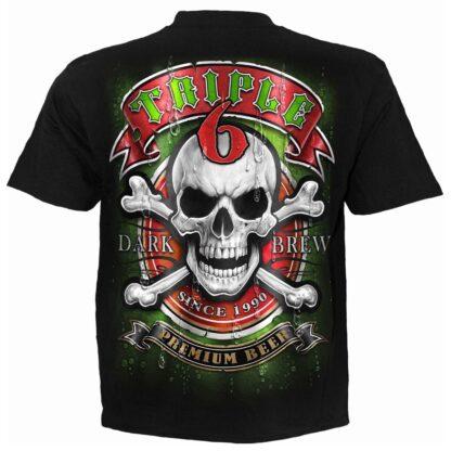 triple 6 svart t-skjorte til herre T185M101