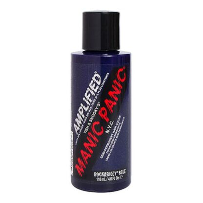 manic panic amplified blå hårfarge 118ml rockabilly blue bottle 70581