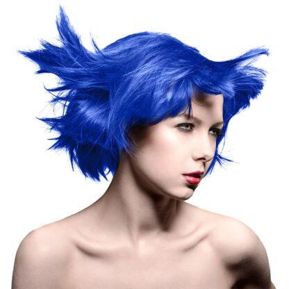 manic panic amplified blå hårfarge 118ml rockabilly blue model 70581