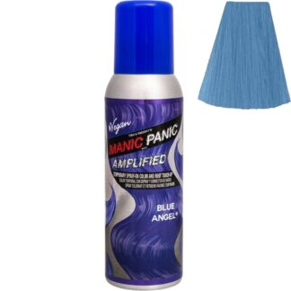 manic panic amplified spray blå hårfarge spray 100ml blue angel 70606
