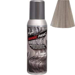 manic panic amplified spray sølv hårfarge spray 100ml silver stiletto 70607