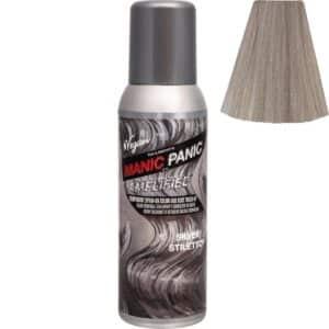 manic panic amplified spray sølv hårfarge spray 100ml silver stiletto 70607