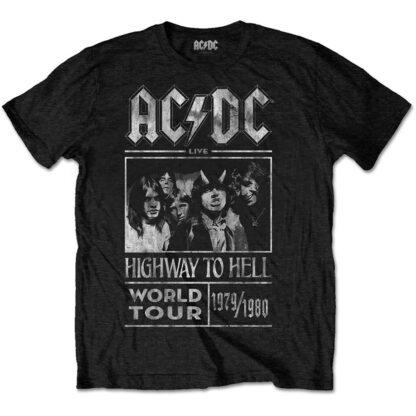 ac dc highway to hell world tour 1979 1980 svart t-skjorte til herre ACDCTTRTW01MB