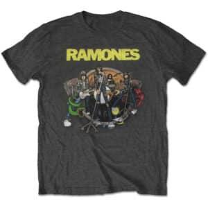 ramones road to ruin grå t-skjorte til herre RATS43MB