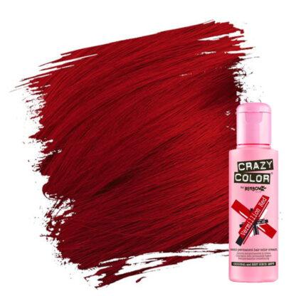 crazy color hårfarger rød hårfarge vermillion red 002230