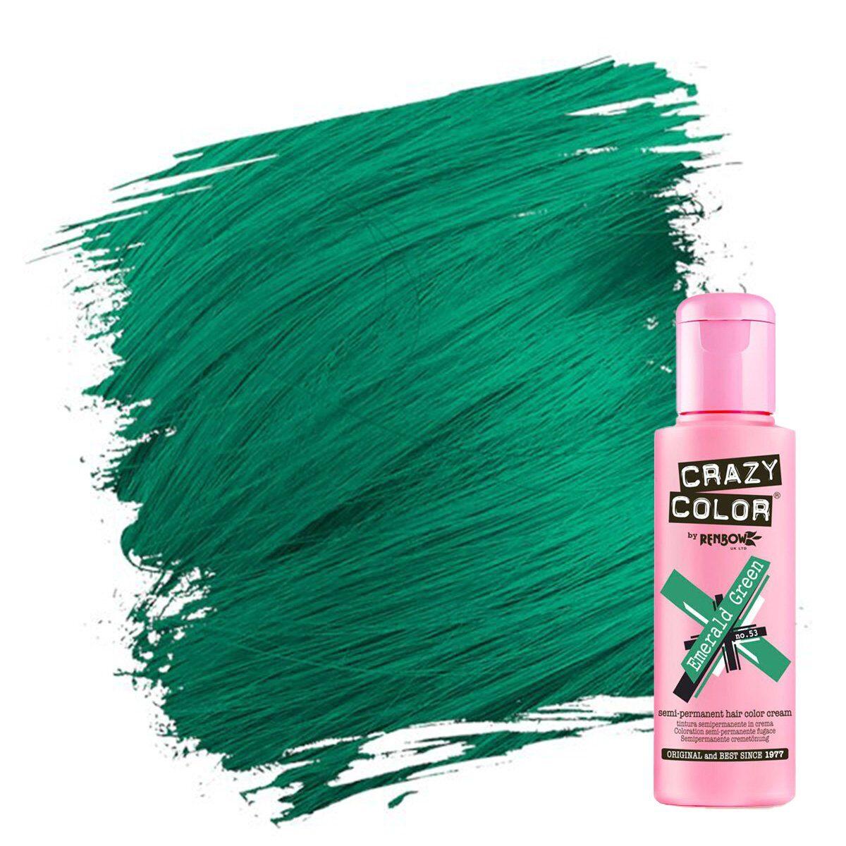 crazy color hårfarger grønn hårfarge emerald green 002243