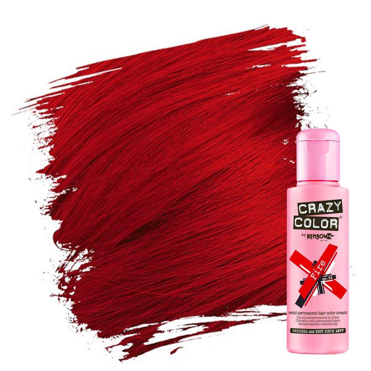 crazy color hårfarger rød hårfarge fire 002246