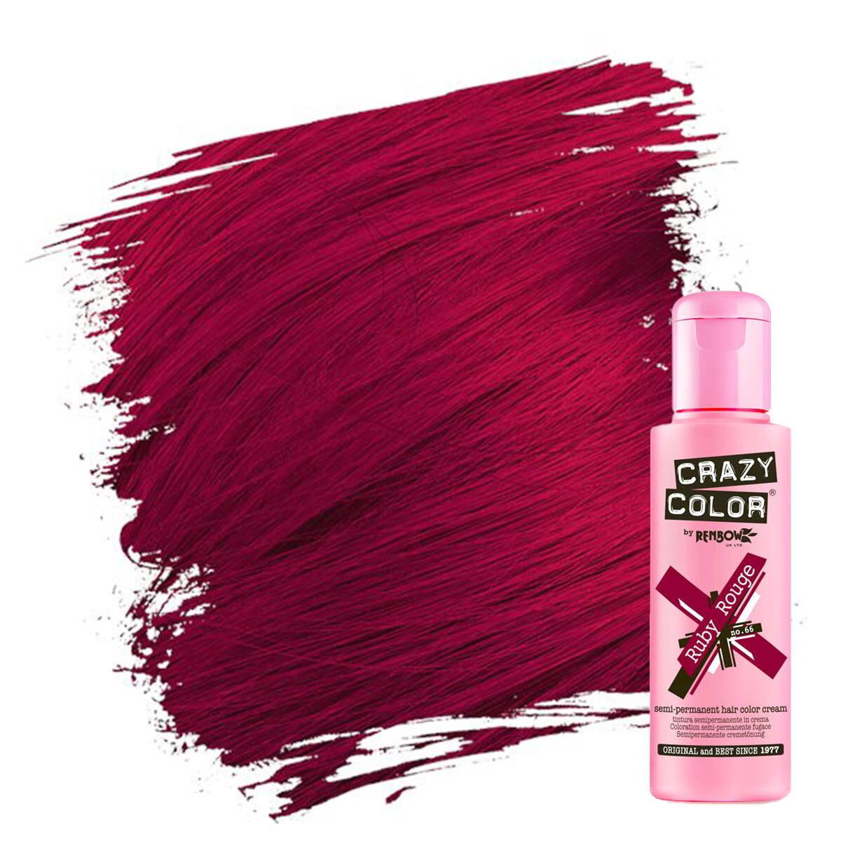 crazy color hårfarger rød hårfarge ruby rouge 002277