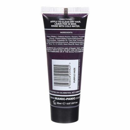manic minis lilla hårfargeprøve purple haze tube 70589