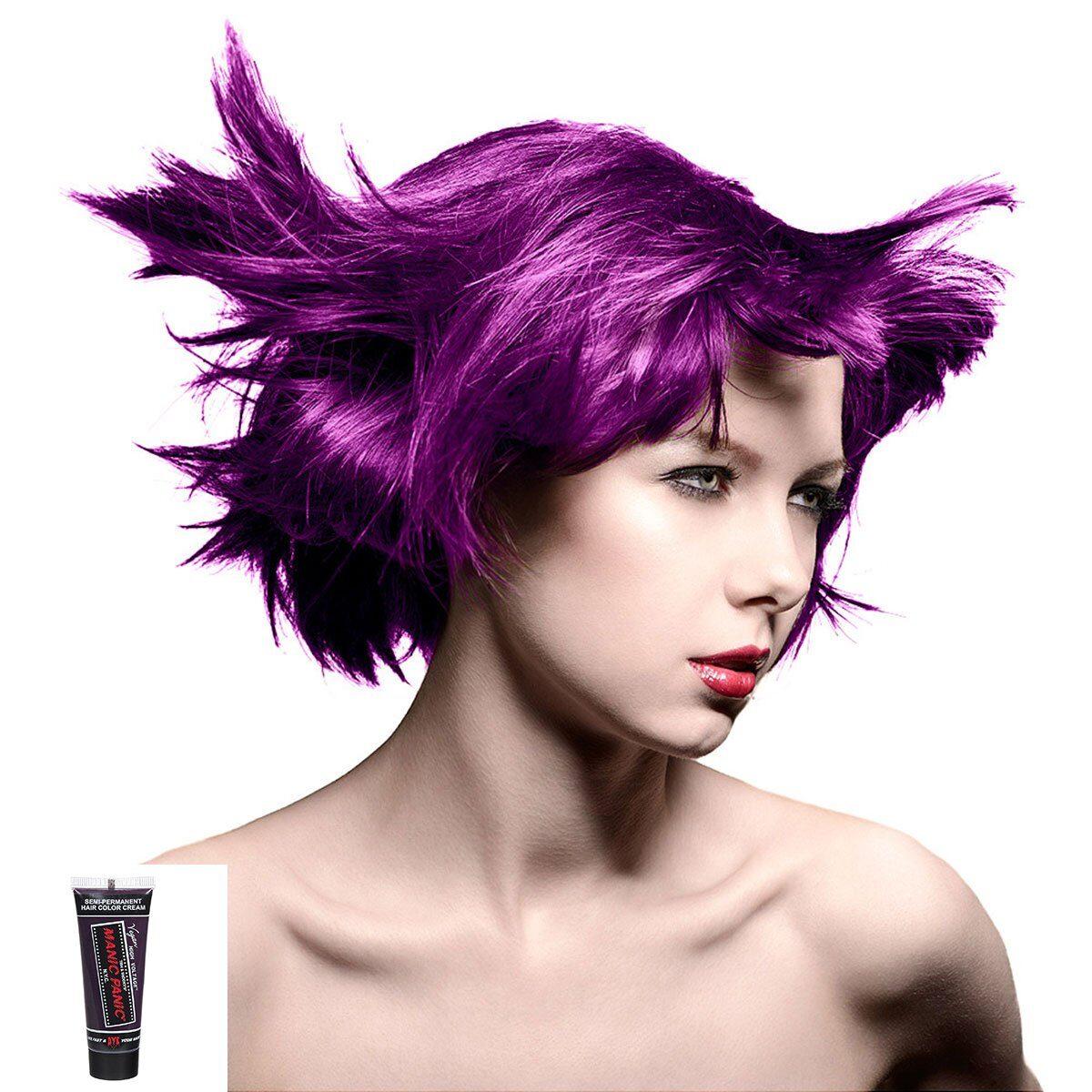 manic minis lilla hårfargeprøve purple haze model 70589