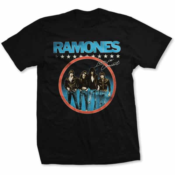 ramones circle photo svart t-skjorte til herre RATS47MB
