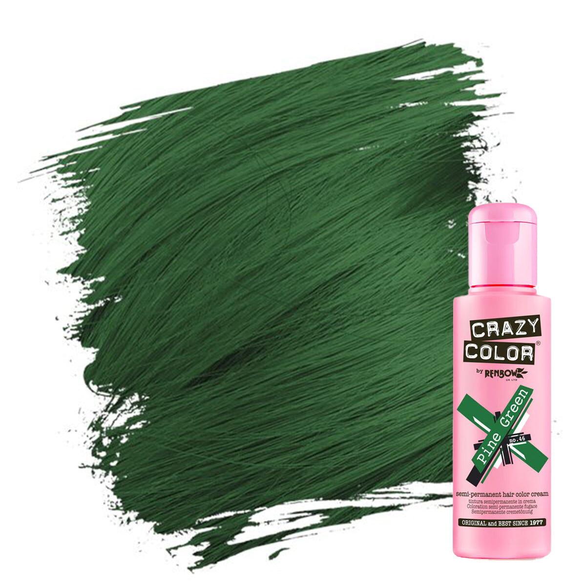 crazy color hårfarger grønn hårfarge pine green 002236