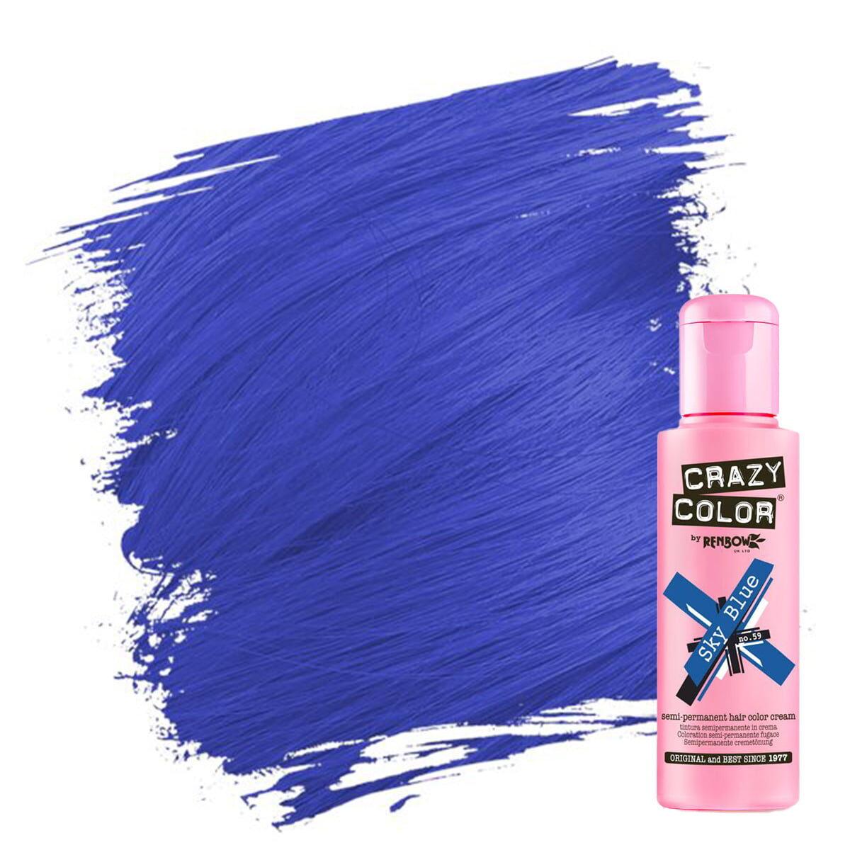 crazy color hårfarger blå hårfarge sky blue 002249