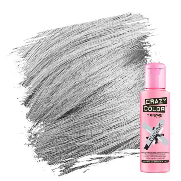 crazy color hårfarger sølv hårfarge platinum 002271