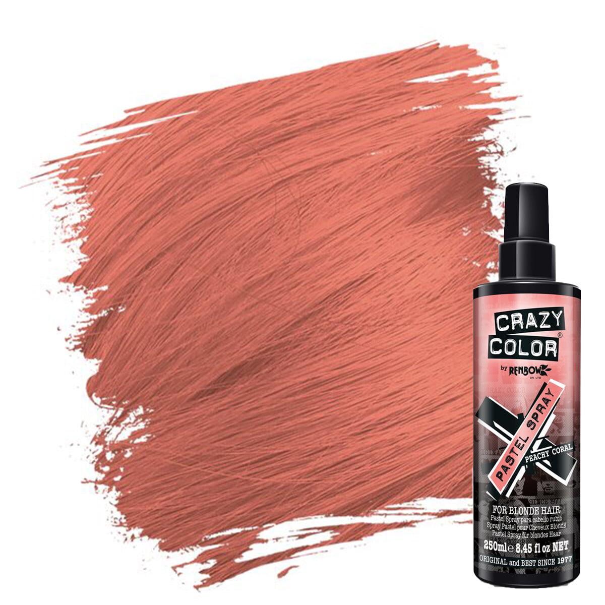 crazy color pastel spray oransje hårfarge spray peachy coral 002451