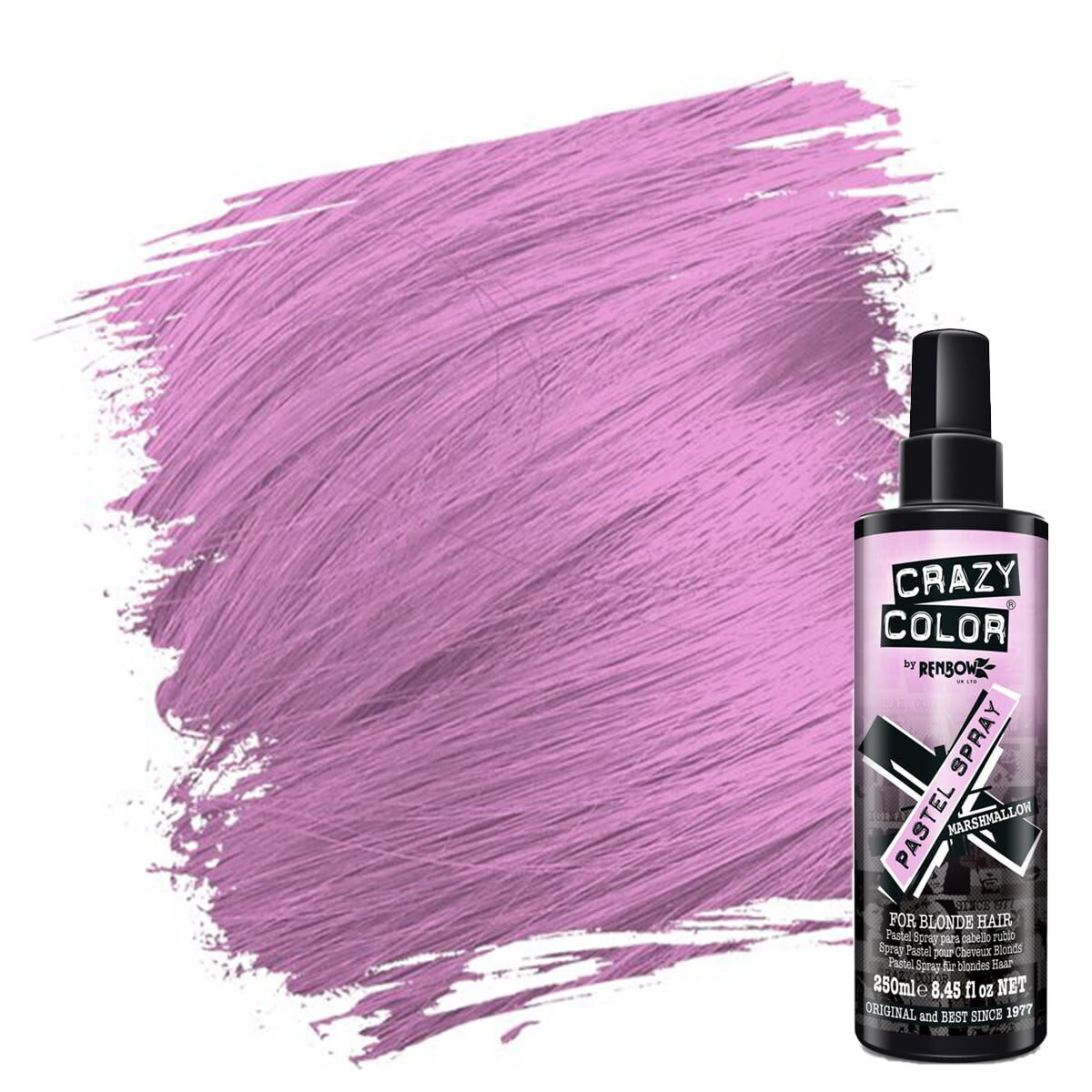crazy color pastel spray rosa hårfarge spray marshmallow 002452