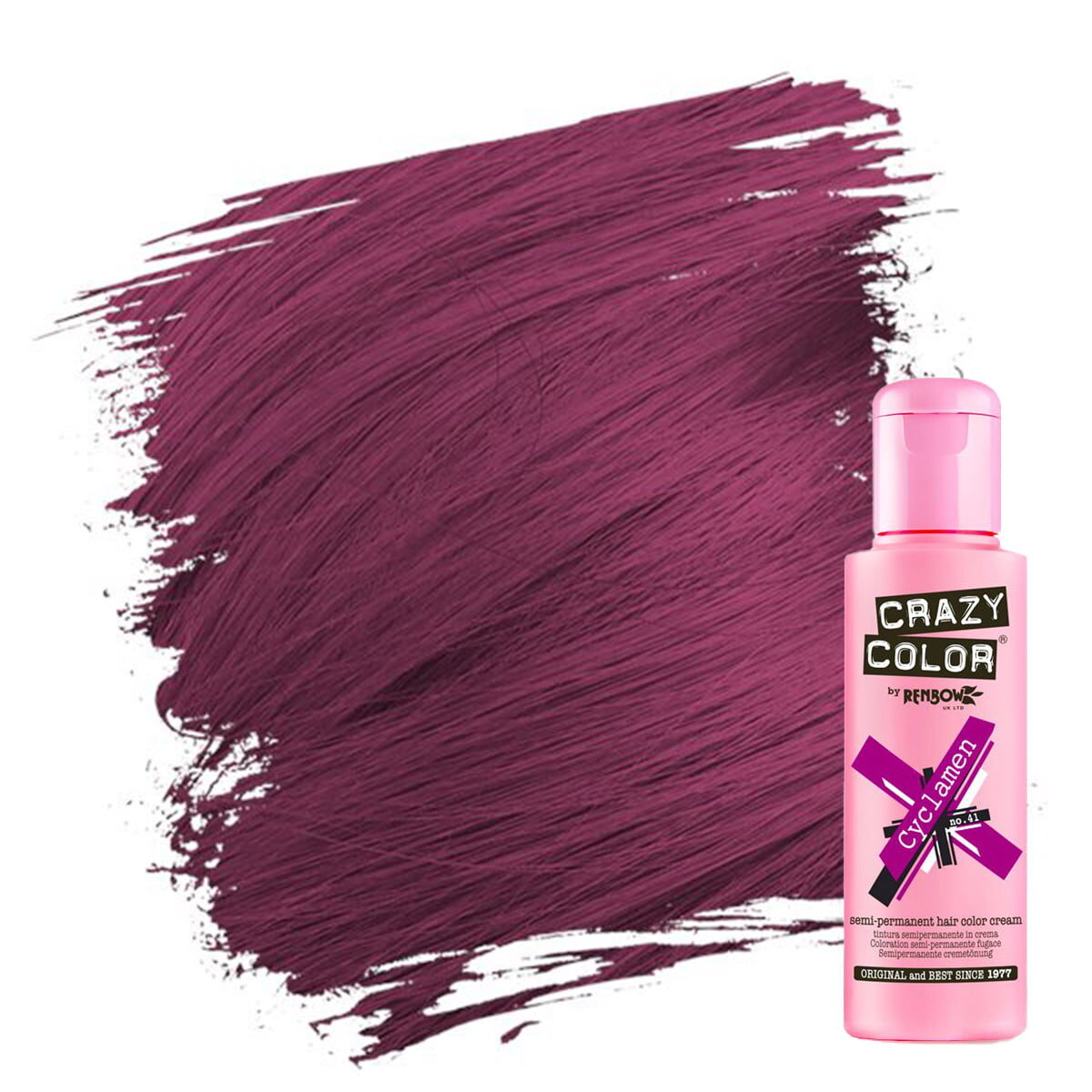 crazy color hårfarger burgunder harfårge cyclamen 002231