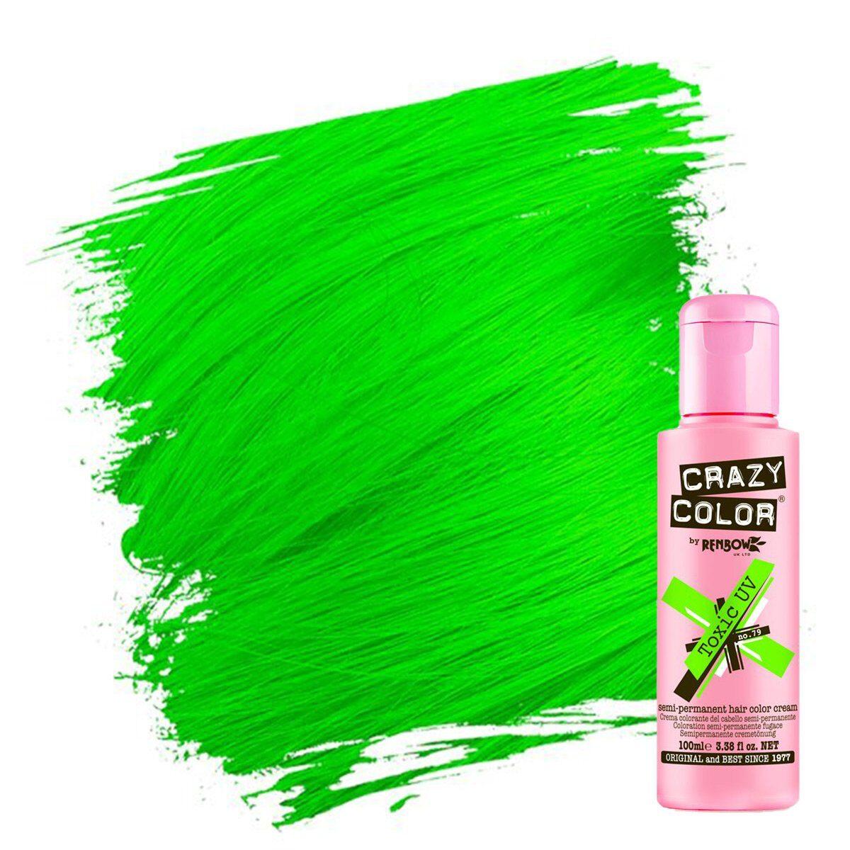 crazy color hårfarger neon grønn hårfarge toxic uv 002298