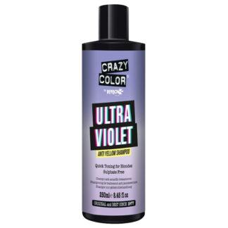 crazy color shampoo fjerner gulskjær ultra violet 002425