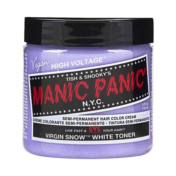 manic panic classic high voltage sølv hårfarge 118ml virgin snow toner pot 40887