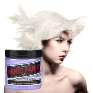 manic panic classic high voltage sølv hårfarge 118ml virgin snow toner model pot 40887