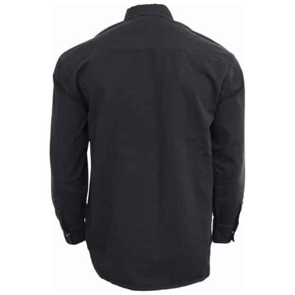 metal streetwear svart steinvasket skjorte P003M610