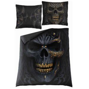 black gold dobbelt sengesett med ekstra putevar M031A510