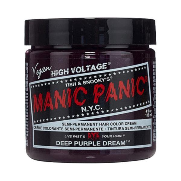 manic panic classic high voltage lilla hårfarge 118ml deep purple dream pot 6006