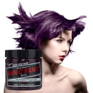 manic panic classic high voltage lilla hårfarge 118ml deep purple dream model pot 6006