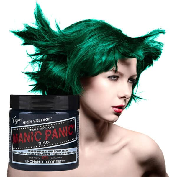 manic panic classic high voltage grønn hårfarge 118ml enchanted forest model pot 62936