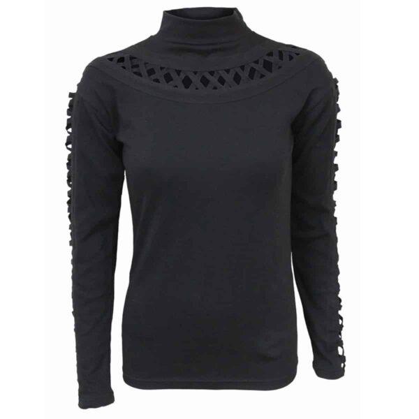 gothic elegance genser med kryssåpning på ermer P001F476