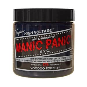 manic panic classic high voltage blågrønn hårfarge 118ml voodoo forest pot 6007
