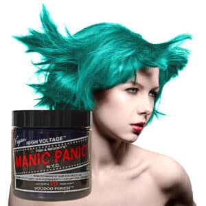 manic panic classic high voltage blågrønn hårfarge 118ml voodoo forest model pot 6007
