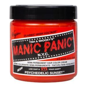 manic panic classic high voltage oransje hårfarge 118ml psychedelic sunset pot 70432