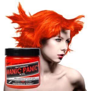 manic panic classic high voltage oransje hårfarge 118ml psychedelic sunset model pot 70432