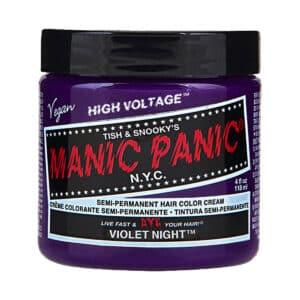 manic panic classic high voltage lilla hårfarge 118ml violet night pot 70438