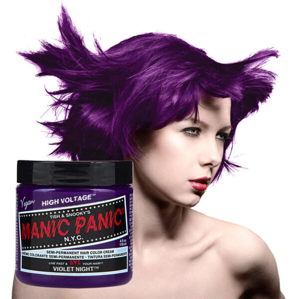 manic panic classic high voltage lilla hårfarge 118ml violet night model pot 70438