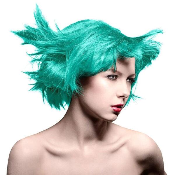 manic panic classic high voltage blågrønn hårfarge 118ml mermaid model 70451