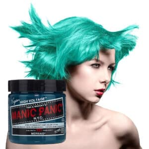 manic panic classic high voltage blågrønn hårfarge 118ml mermaid model pot 70451