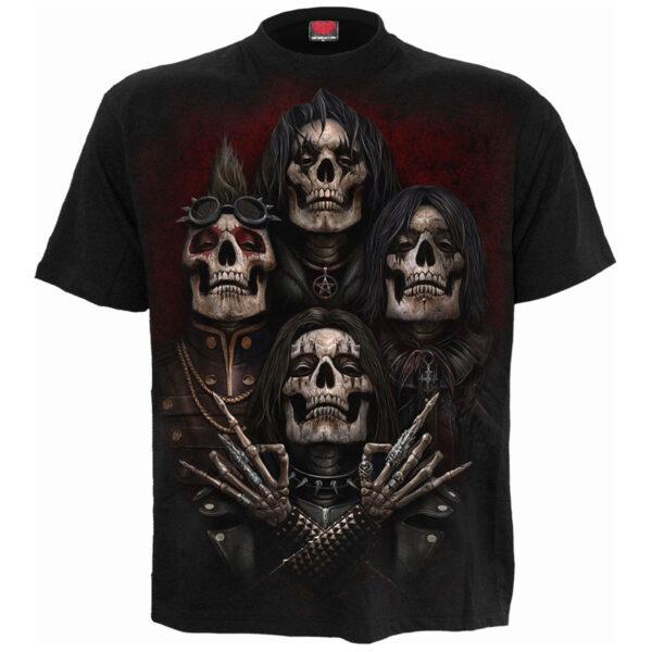 faces of goth svart t-skjorte til herre D105M101