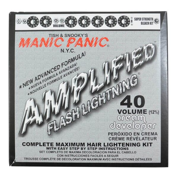 manic panic flash lightning blekemiddel sett 40 volume 44203
